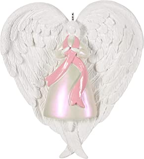 Hallmark Keepsake Christmas Ornament 2019 Year Dated Angel of The Heart Supporting Susan G. Komen,