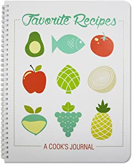 BookFactory Recipe Book/Recipe Journal/Notebook/Blank Cook Book - 150 Total Recipe Pages (8 1/2
