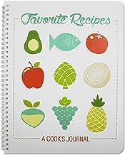 BookFactory Recipe Book/Large Recipe Journal/Notebook/Blank Cook Book – 150 Total..