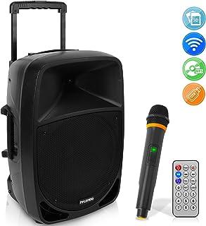 1200W Portable Bluetooth PA Speaker – 12'' Subwoofer, LED Battery Indicator..