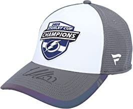 Victor Hedman Tampa Bay Lightning 2020 Stanley Cup Champions Autographed Locker Room Cap - Autographed NHL Hats