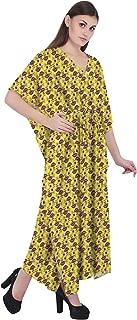 RADANYA Ikkat Women Loose Kaftan Swimsuit Cover Up Beach Long Casual Caftan Dress
