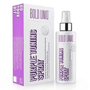 Blonde Toner Spray. Purple Leave In Toning Hair