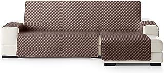 JM Textil Funda Cubre Sofá Chaise Longue Elena, Protector para Sofás Acolchado Brazo Derecho. Tamaño -240cm. Color Marrón ...