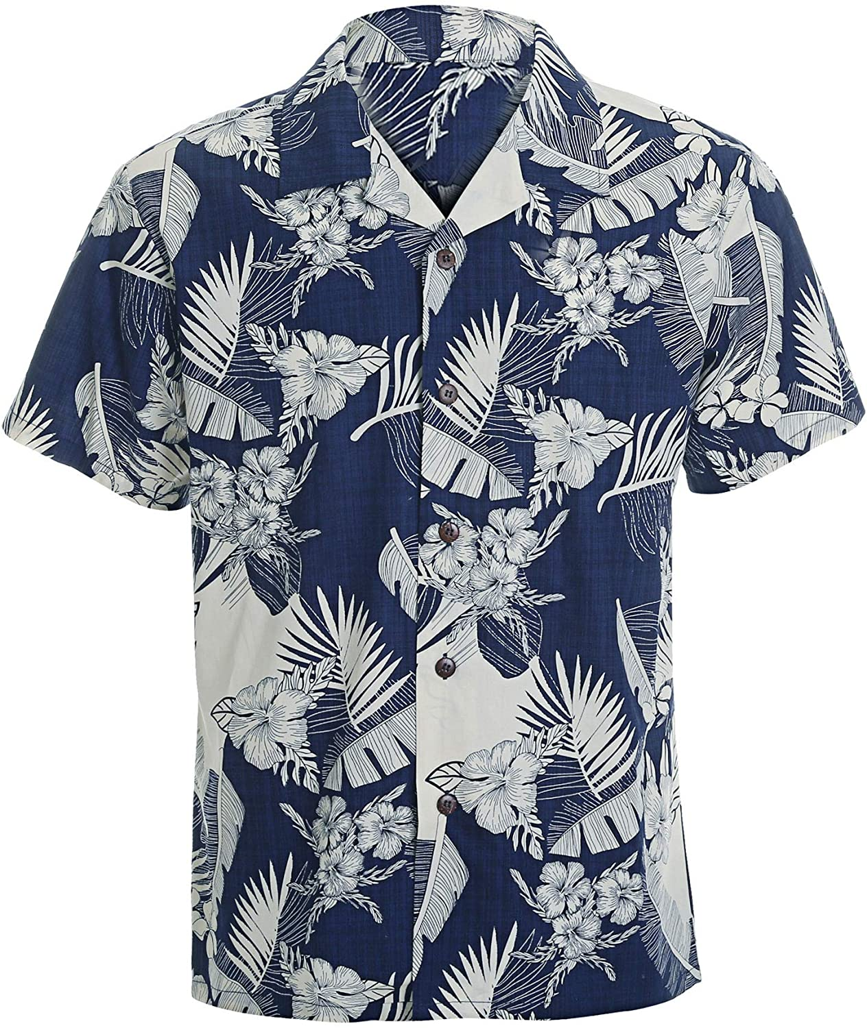 Year In Year Out Mens Hawaiian Shirt Regular Fit Hawaiian Shirts for Men with Quick to Dry Effect