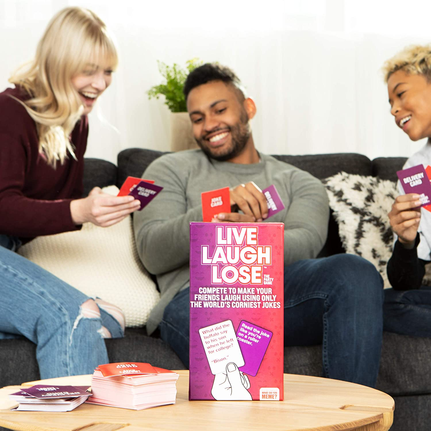 Live Laugh Lose Game - Featured image. Enjoying the party card game