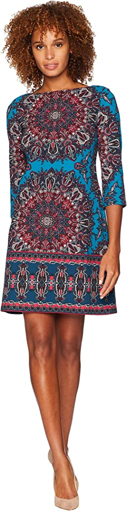 Spinning Wheel Crepe Dress