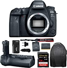 Canon EOS 6D Mark II Professional Digital Camera: 26 Megapixel Touchscreen Full Frame DSLR Bundle with Canon BG-E21 Battery Grip 64GB SD Card SLR Bag Photographer's Kit