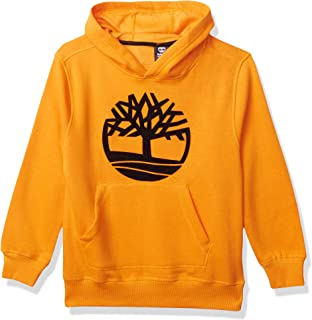 Timberland Boys' Long Sleeve Signature Logo Fleece Hoodie