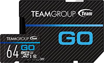 TEAMGROUP GO Card 64GB for GoPro & Action Cameras MicroSDXC UHS-I U3 High Speed Flash Memory Card with Adapter for Outdoor, Sports, 4K Shooting TGUSDX64GU303