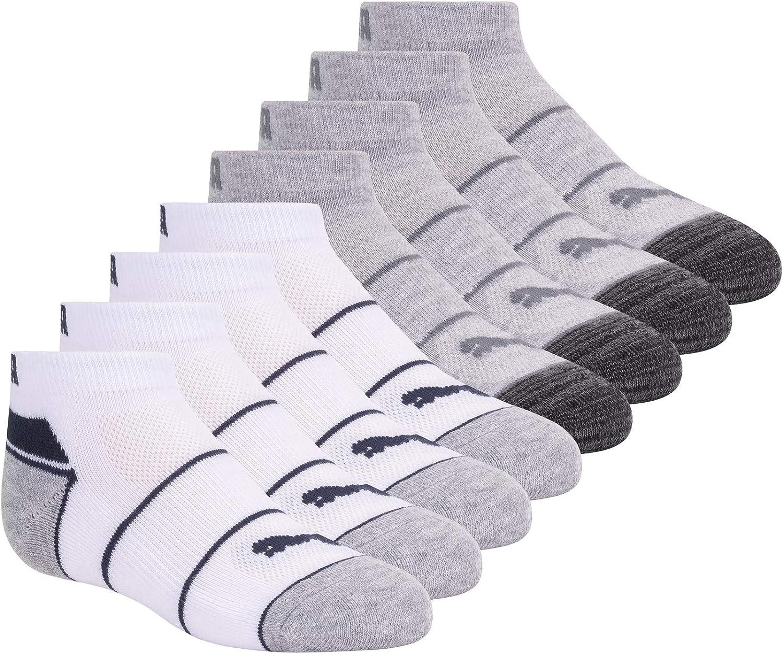 PUMA Boys' 8 Pack Low Cut Socks