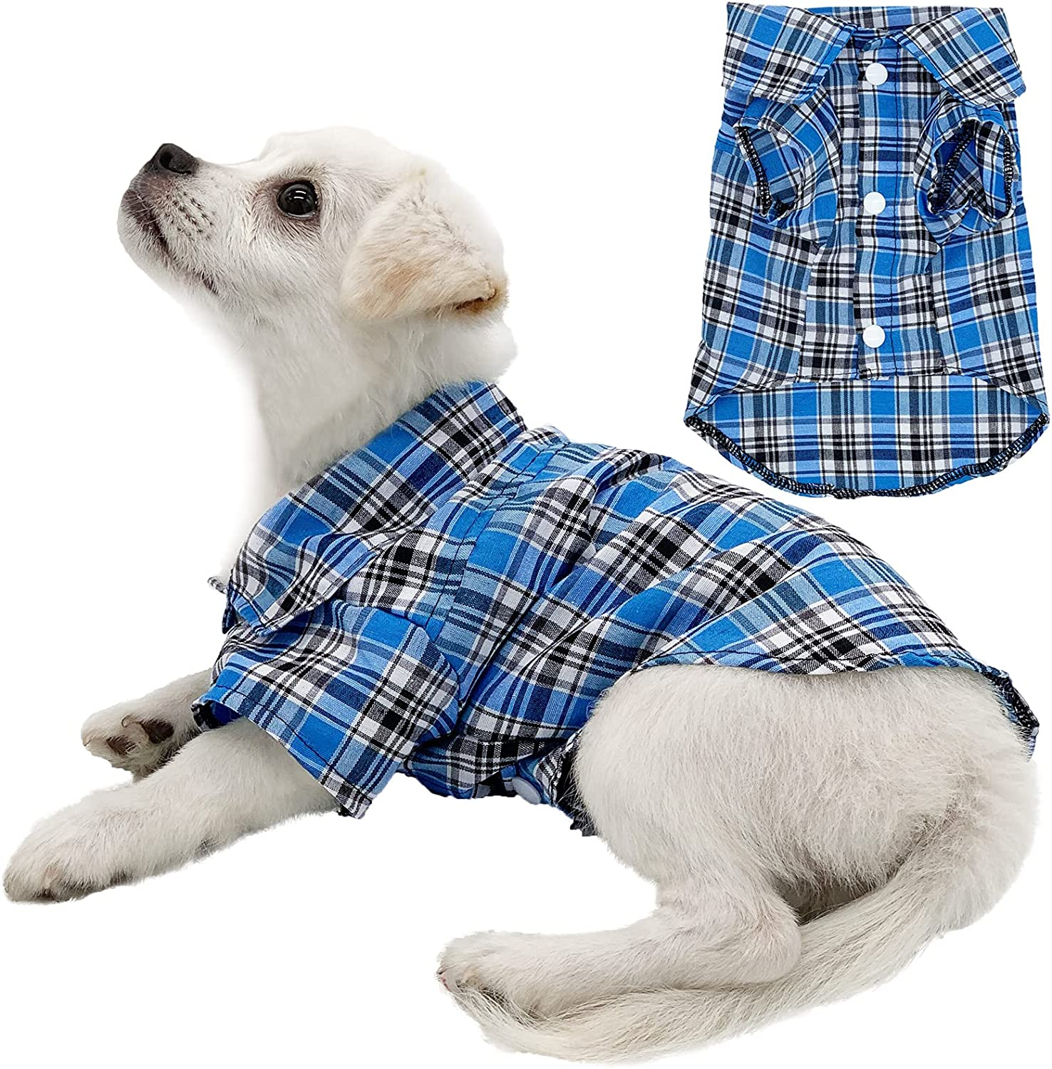 Ranking TOP4 Strangefly Dog Shirt Puppy Plaid Clothes T Polo Classic Grid New product! New type Pet