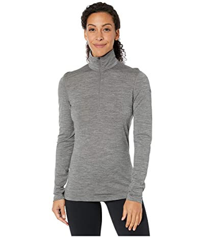 Icebreaker Oasis Merino Long Sleeve 1/2 Zip (Gritstone Heather) Women