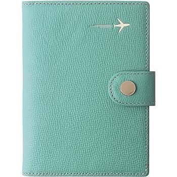 Genuine Leather Passport Holder Cover Case Rfid Blocking Travel Wallet Id Card Case