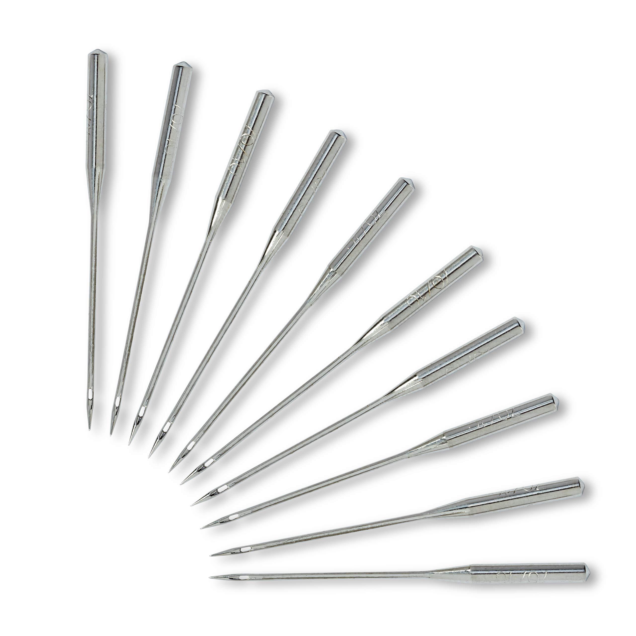Prym 152283 287(690) -Agujas para máquina de coser (punta redonda ...
