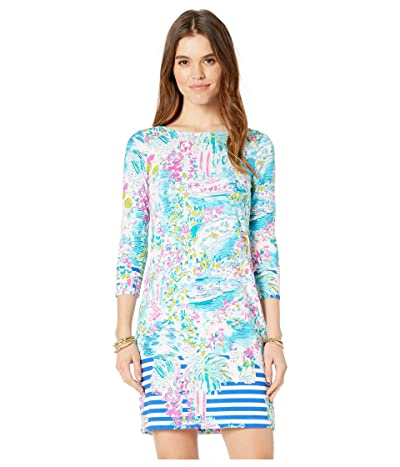 Lilly Pulitzer UPF 50+ Pearson Dress (Multi Postcards From Positano Engineered Knit) Women