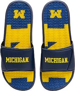 FOCO NCAA Mens Sport Shower Gel Slide Flip Flop Sandals