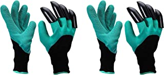 SAFEYURA Garden Gloves with Claws for Gardening, Pruning, Digging and Planting (rubber,polyester & ABS plastic ,Pack of 2 ...