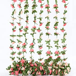 Details about  /2*Artificial Long Plants Plastic Wall Hanging Vine Fake Flower Wicker Home Decor