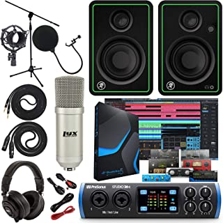 "PreSonus Studio 26c 2x4,192 kHz USB Audio/MIDI Interface with Studio One 5 Artist Software Pack with CR3-X Pair Studio Monitors and 1/4"" Instrument Cables"