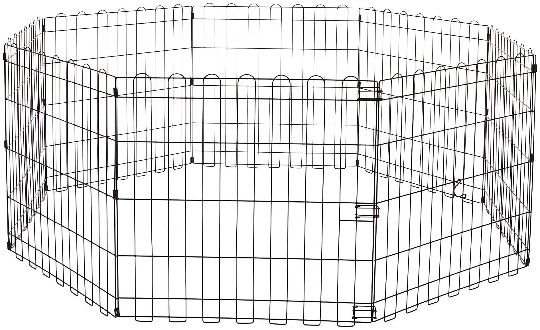 AmazonBasics Foldable Metal Exercise Fence