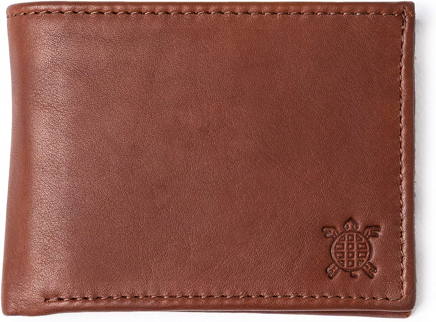 Classic Leather Men´s Wallet - Minimalist, Timeless and Elegant Wallet for Men Imported Leather with Card Holders and a Large Billfold pocket (Brown)