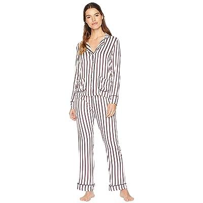 Splendid Woven PJ Set (Winter Stripe) Women