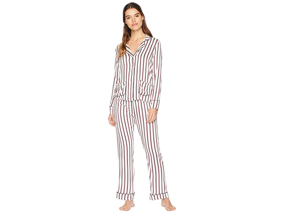 Splendid Woven PJ Set (Winter Stripe) Women
