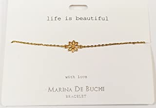 Marina De Buchi Life is Beautiful Named Bracelet in Gold Colour by Param's Direct