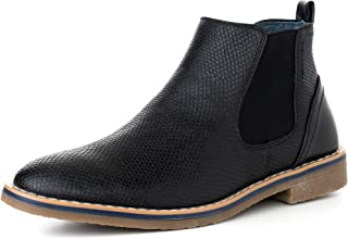 Mens Nash Chelsea Boots Snakeskin Ankle Boot Genuine Leather Lined