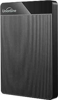 """UnionSine 2.5"""" 750Go Ultra-Mince Disque Dur Externe Portable USB3.0 SATA, Stockage HDD pour PC, Mac, Ordinateur de Bureaup..."""