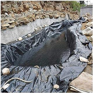 Size : 2x3m 6.6x9.8ft Garden Pond Liner Rubber Fish Pond Liners 2x3m Protective Underlayment Flexible Pre-Cut Pond Liner Pond Small Ponds 0.2mm