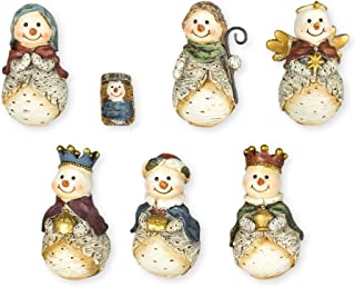 Snowman Nativity Set 7 Pc Figurine Set