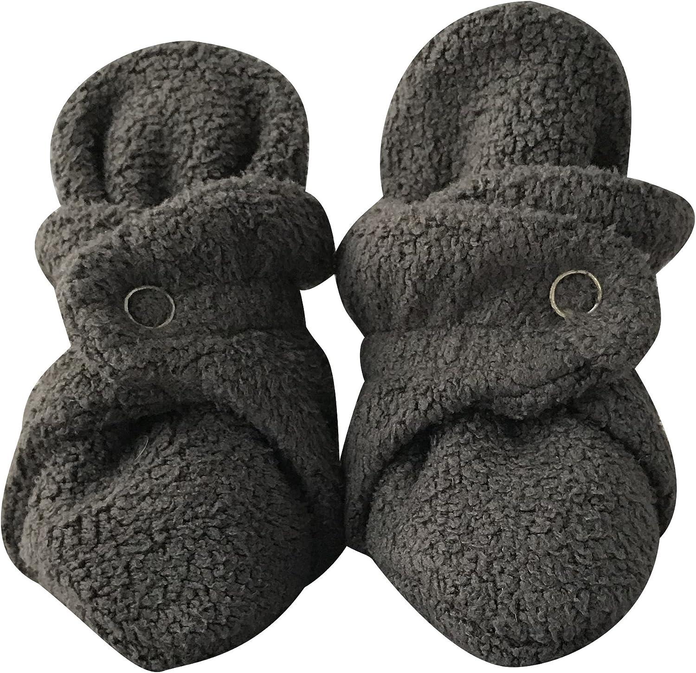 bume baby Grey Cozy Warm Infant Baby Fleece Booties