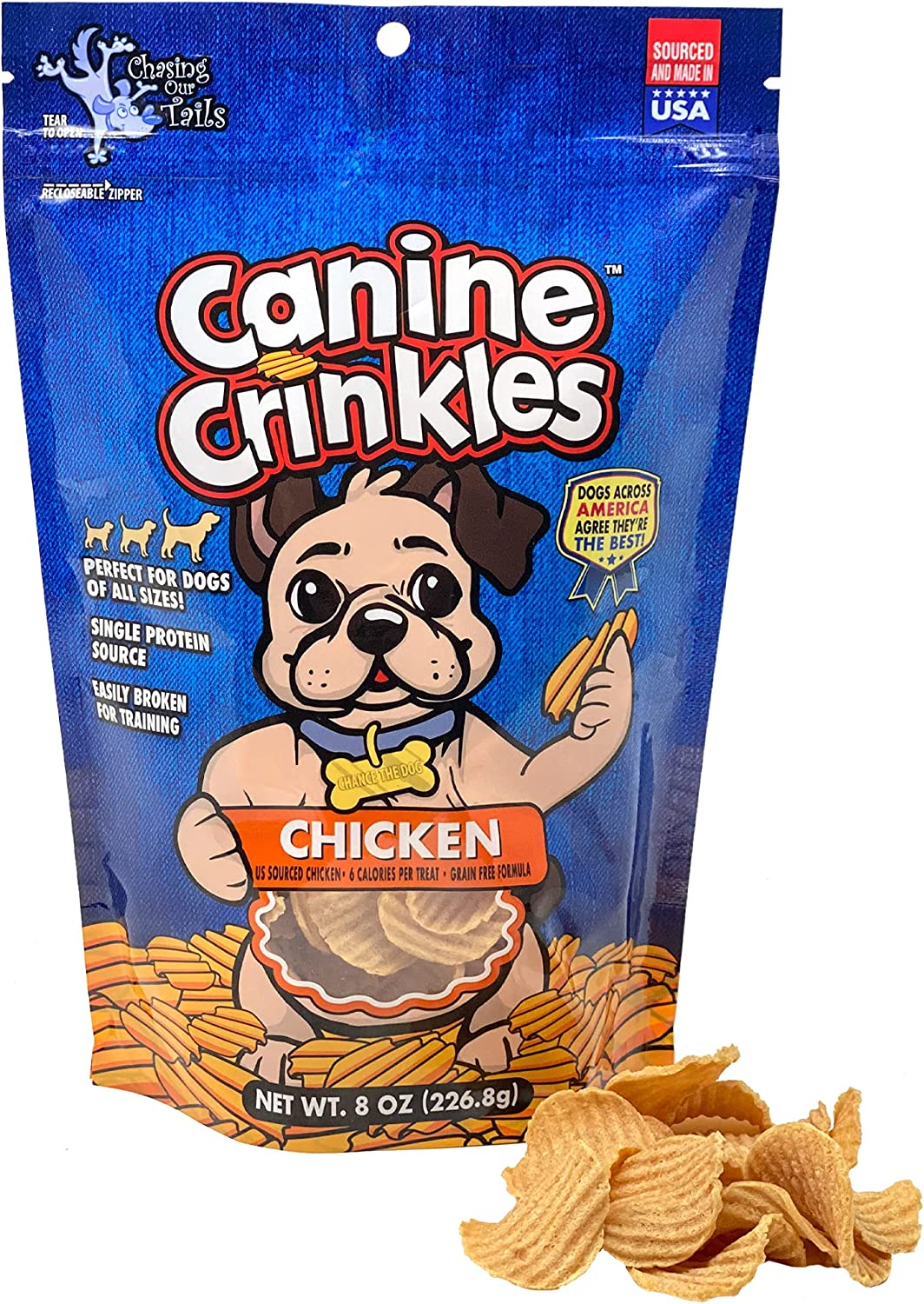 Canine Crinkles Chicken Chips Award-winning store for Dogs price - Chick Dehydrated Crispy