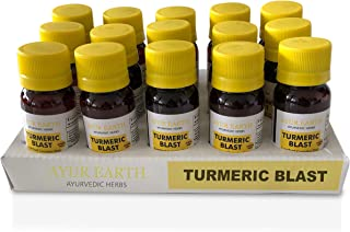 Turmeric Curcumin Superfood Supreme Shots with Black Pepper as BioPerine 9000 Mg Highest Potency Available - Ayurveda Natural Formula - Liquids work faster than Pills - Pain Relief, Anti-Inflammatory,