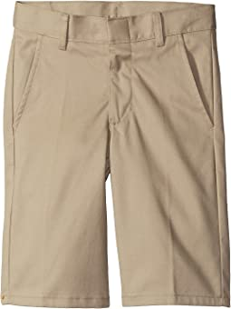Nautica Kids Flat Front Slim Twill Shorts (Big Kids)