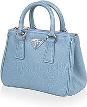 Prada Women's Galleria Saffiano Leather Satchel, Pale Blue