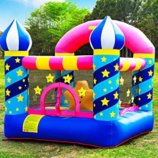 Doctor Dolphin Inflatable Bouncer Kids Bounce House for Birthday Party with Air Blower