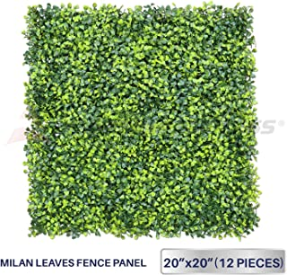 Windscreen4less Artificial Faux Ivy Leaf Decorative Fence Screen 20'' x 20