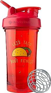 BlenderBottle Pro Series Foodie Shaker Bottle 24oz Let's Taco 'Bout Fitness