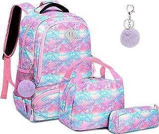 Mochila Escolar Mochila Sirena Mochila Colegio Niña Mochila Chica Mochila Escolares Juveniles con Bolsa para Almuerzo y Es...