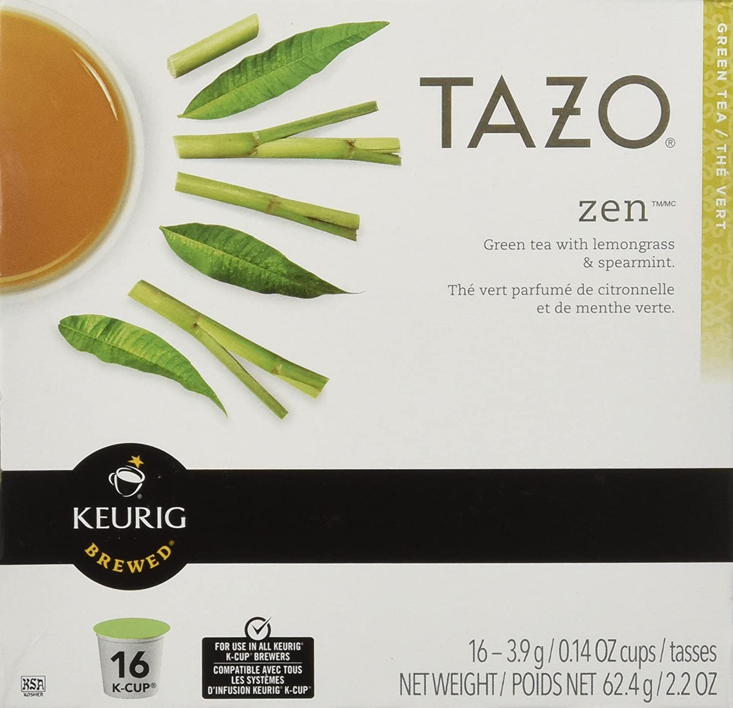 Keurig 100% quality warranty Tazo Zen Tea 16-Count San Antonio Mall Brewers 2 for K-Cups Pack