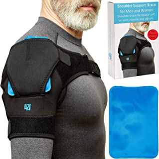 2-in-1 Shoulder Brace for Women/Men with Gel Shoulder Heating Pad-Right/Left Frozen Shoulder Ice Pack Rotator Cuff Support Brace at no Cost-Shoulder Support Brace-Shoulder Pain Relief Shoulder Wrap