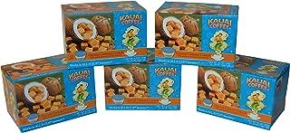 Kauai Coffee Coconut Caramel Crunch Single-Serve Cups, 12 Count - 5 Pack