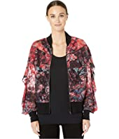 FUZZI - Printed Dot Bomber Jacket