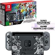 Nintendo Switch Grey Super Smash Bros. Ultimate Edition + Super Smash Bros. Download Code [Importación inglesa]
