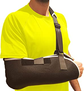 Arm Sling Shoulder Immobilizer Brace – Shoulder Sling Arm Brace with Thumb Support to Stabilize Broken Arm, Rotator Cuff, AC Joint, Carpal Tunnel Wrist Pain, Elbow Tendonitis, Hand & Forearm Sling