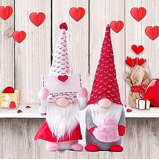 Valentine`s Gnomes Valentines Day Decorations, Gnome Valentines Day Ornaments for Tree Home Valentine Ornaments, Handmade ...