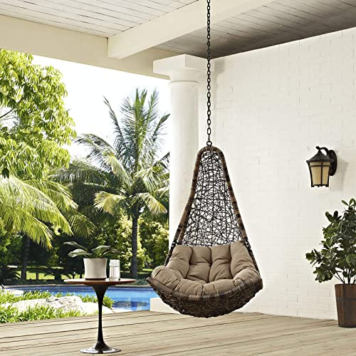 Modway Abate Outdoor Patio Swing Chair Without Stand, Black Mocha - Stands For Hanging Wicker Swing Chairs: Amazon.com